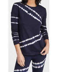 The Upside Tie Dye Courtney Long Sleeve Tee - Blue