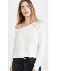 Enza Costa Peached Jersey Easy Off Shoulder Top - White