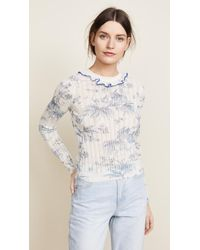 RED Valentino   Floral Print Sweater   Lyst