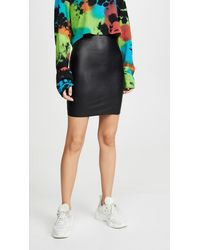 Commando Faux Leather Mini Skirt - Black