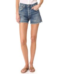 Citizens of Humanity - Alyx Classic High Rise Shorts - Lyst
