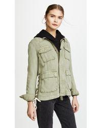 Pam & Gela - Lace Up Field Jacket - Lyst