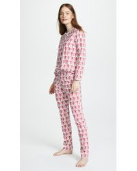 Roberta Roller Rabbit Monkey Pj Set - Pink