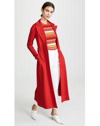 Harris Wharf London Long Duster Coat - Red