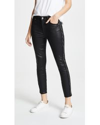 7 For All Mankind - B(air) Coated High-waisted Skinny Jeans - Lyst