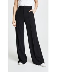 Alice + Olivia Dylan High Waisted Leg Trousers - Black