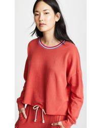 LNA - Lore Sweatshirt (red) Women's Sweatshirt - Lyst