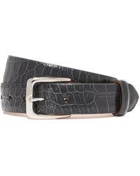 W. Kleinberg - Embossed Croc Leather Belt - Lyst