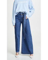 Ksenia Schnaider Asymmetrical Jeans - Blue