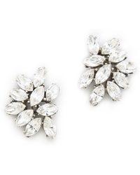 Ben-Amun Crystal Cluster Earrings - Metallic