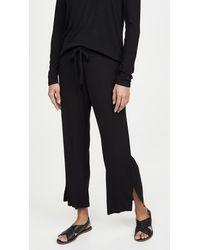 LNA Kismet Ribbed Knit Trousers - Black