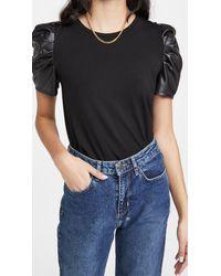 Generation Love Penny Vegan Leather Top - Black