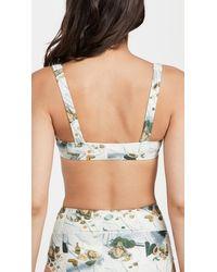 Madewell Leah Square Neck Bikini Top - Multicolour
