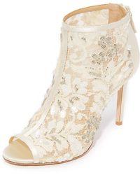 Badgley Mischka - Moyra Peep Toe Court Shoes - Lyst