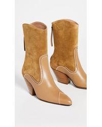 Zimmermann Sleek Cowboy Boots - Natural