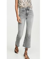 Rag & Bone Nina High Rise Ankle Flare Jeans - Gray