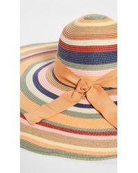Zimmermann The Lovestruck Stripe Sunhat - Multicolour