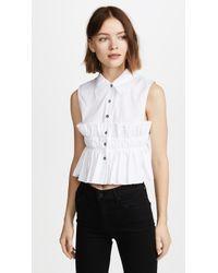 Jourden - Smocked Crop Shirt - Lyst