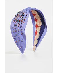 NAMJOSH Lilac Multi Studded Headband - Purple