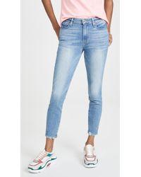 PAIGE Hoxton Crop Jeans - Blue