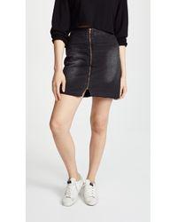 One Teaspoon - Viven High Rise A-line Skirt - Lyst