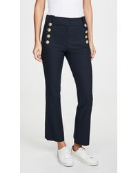 10 Crosby Derek Lam Robertson Cropped Flare Trousers With Sailor Buttons - Blue