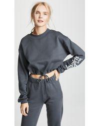 Les Girls, Les Boys - Loopback Crop Sweatshirt - Lyst