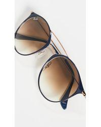 Ray-Ban Highstreet Phantos Aviator Sunglasses - Brown