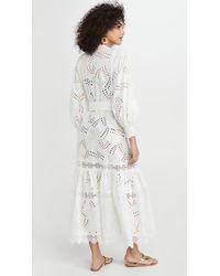 Waimari Vistamar Cover Up Kimono - White