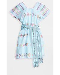 Pippa Holt Mini Caftan With Belt - Blue