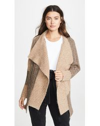 Yigal Azrouël Two Tone Patch Work Cardigan - Natural