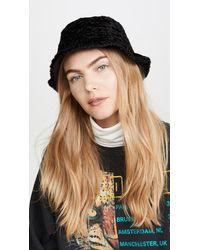 Kate Spade Sherpa Bucket Hat - Black