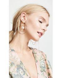 Tory Burch - Multi Hoop Pearl Earrings - Lyst