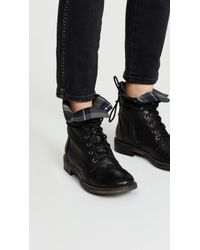 Free People - Portland Lace Up Boots - Lyst