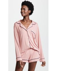 Eberjey - Gisele Long Sleeve Short Pj Set - Lyst