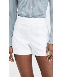 Theory Mini Utility Shorts - White