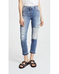 Belstaff Cardwell Distressed Jeans - Blue