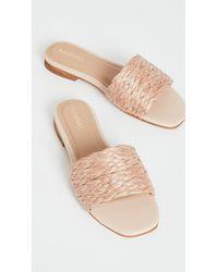 Kaanas Key Largo Braided Raffia Slip On Sandals - Multicolour