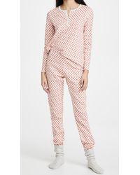 Roberta Roller Rabbit Quilted Hearts Pyjamas - Pink