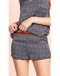Love Stories - Star Printed Pajama Shorts - Lyst