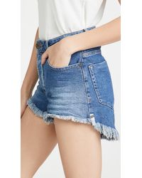 One Teaspoon Soho Blue Bonita High Waist Denim Shorts