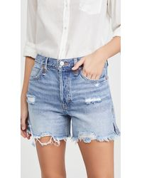 Free People Makai Cutoff Jean Shorts - Blue
