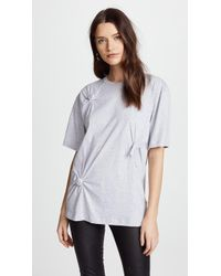 Helmut Lang - Knot Detail Oversized Tee - Lyst