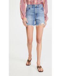 PAIGE Dani High Waisted Shorts - Blue