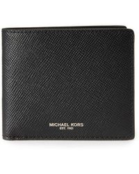 Michael Kors Harrison Leather Billfold - Black