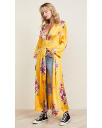 Free People - Alexa Duster In Yellow - Lyst