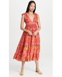 FARM Rio Solar Forest Maxi Dress - Red