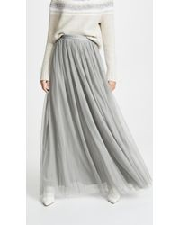 38c739088 Lyst - Needle & Thread Dotted Tulle Maxi Skirt in White