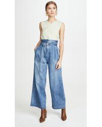 Tibi Stella Full Length Jeans - Blue