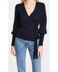 Diane von Furstenberg Adrielle Wrap Sweater - Blue